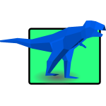 Blue tyrannosaurus vector illustration