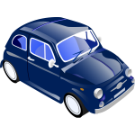 Fiat 500 vector graphics