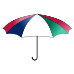 Vector graphics of colorful umbrella