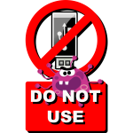 Vector image of funny do not USE USB stick label