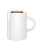 Vector image of white mug full of coffee