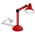 Red lamp vector illustration