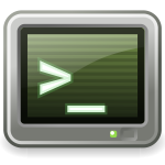 Default prompt terminal window vector illustration