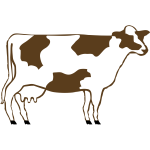 Brown cow from profile vector image