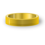 Vector illustration of classic gold ring