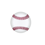 Vector drawing of baseball ball