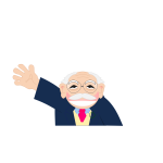Vector clip art of cartoon old man character