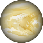 Vector illustration of planet Venus in color