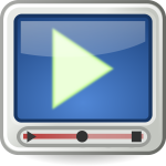 PC video player icon vector illustration