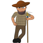 Cartoon farmer