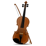 Violin vector drawing