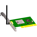 WIFI PCI card vector image