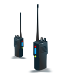 A walkie-talkie vector graphics