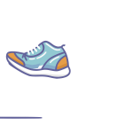 Walking shoe animation