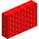 Simple red brick wall vector clip art