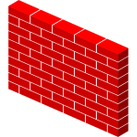 Vector image of pallet of bricks