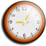 Brown wall clock vector image