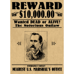 Wanted Poster with face