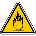 Combustible hazard warning sign vector image
