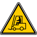 Forklift bio-hazard warning sign vector image