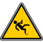 Slippery floor biohazard warning sign vector image