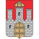 Vector illustration of coat of arms of Wloclawek City