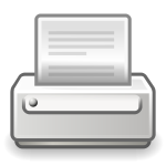 Vector clip art of old style PC printer icon