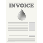 Water company invoice vector illustration