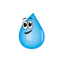 Smiling water droplet vector clip art