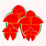 Vector image of watermelon family