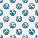 wave and plover seamless pattern