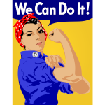 We Can Do It vector poster