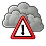 Storm warning sign vector image