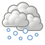 Color weather forecast icon for snow vector image