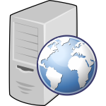 Web server vector icon