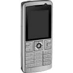 Vector image of mobile phone with keypad
