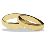 Gold wedding rings vector clip art