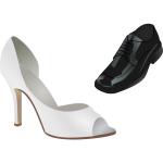 Male and female wedding shoes vector image
