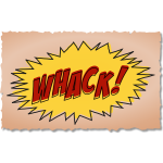 Vector graphics of vintage comic whack sound effect