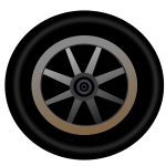 Vector image of wheel