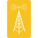 Vector clip art of radio signal emitter icon