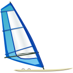 Windsurfing boat vector image