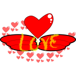 Vector clip art of wings of love
