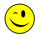 winking smiley yellow simple