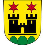 Vector drawing of coat of arms of Meilen City