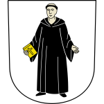 Mönchaltorf coat of arms with frame vector image