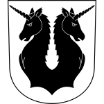 Mettmenstetten coat of arms with frame vector image