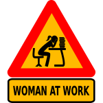 Woman at intellectual work vector image