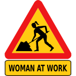 Mom at work road sign