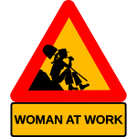 Woman at work vector image